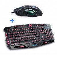 Darshion keyboard + mouse with backlightt