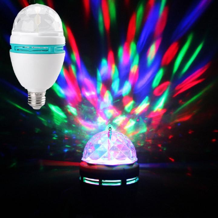 Rotating color LED Е27 DISCO bulb lamp Star Master