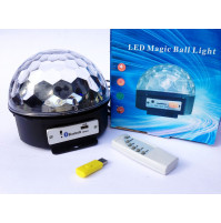 Gaismas diožu disko bumba LED Crystal Magic Ball Light ar bluetooth uztvērēju