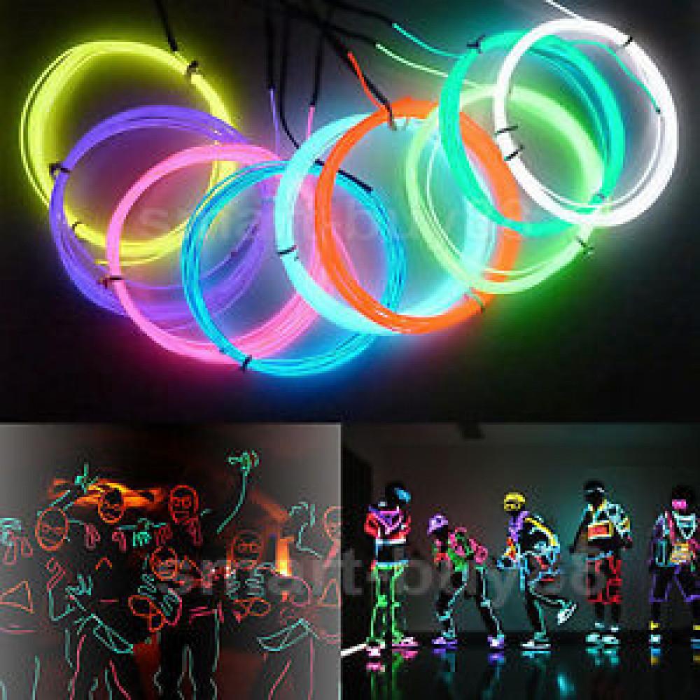 1M Flexible EL Wire Rope Neon Light