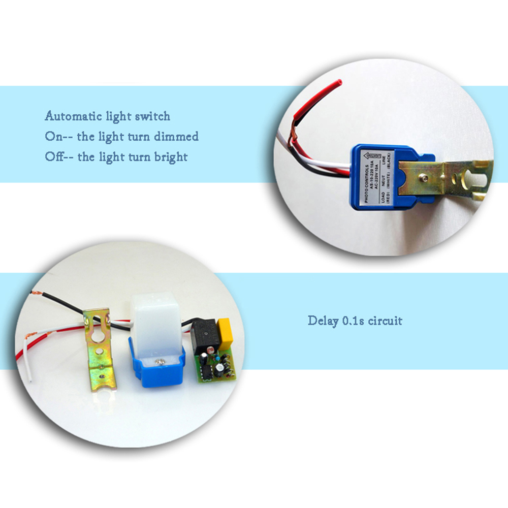 Auto On Off Switch Controller Photocell Light Sensor Chincolor Wiring Diagram Lighting