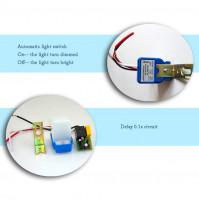 Automātiskais gaismas kontrolieris - ielu gaismas PIR fotoelements 12 V vai 50-60 Hz 10A 220 V