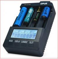 Universal Smart Charger Opus BT-C3100 V2.2 Smart 4 Port Universal Battery Charger LCD Li-ion NiCd NiMh AA AAA 10440 14500 16340 17335 17500 18490 17670