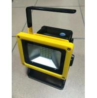 LED lampa 10w/100w ar akumulātoru