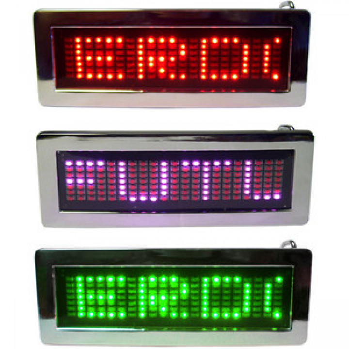 LED- programmable Scrolling Name Message Badge Tag