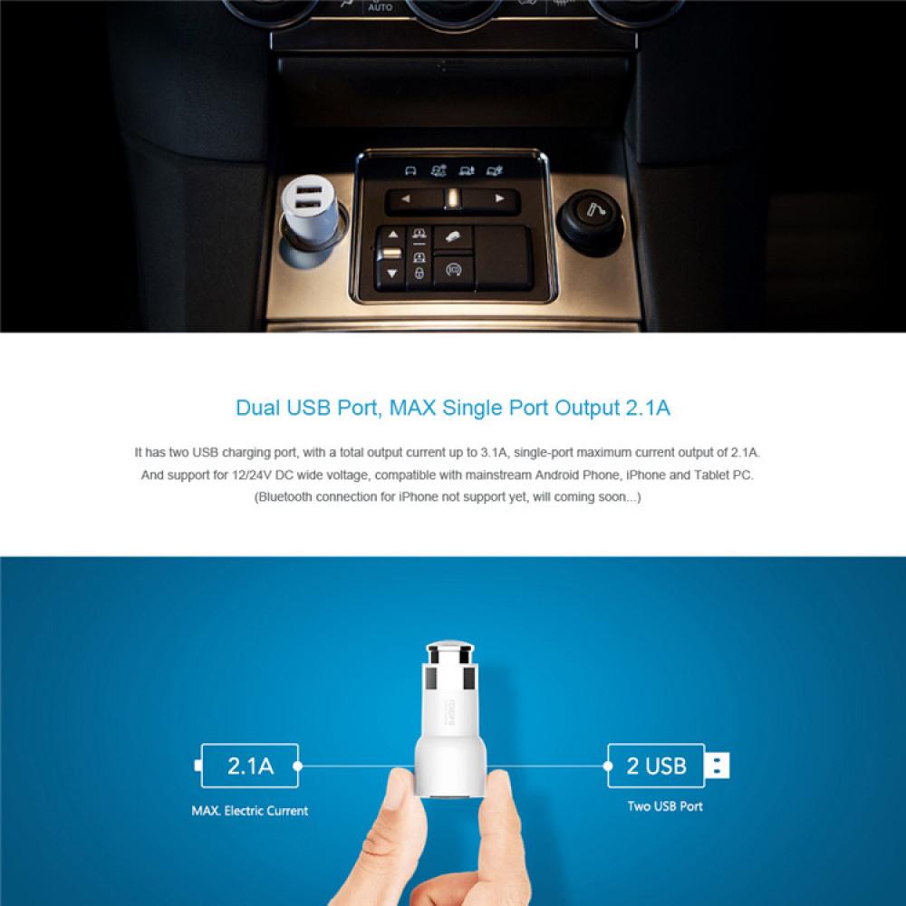Bluetooth 4.0. Hands Free sistem with FM modulator