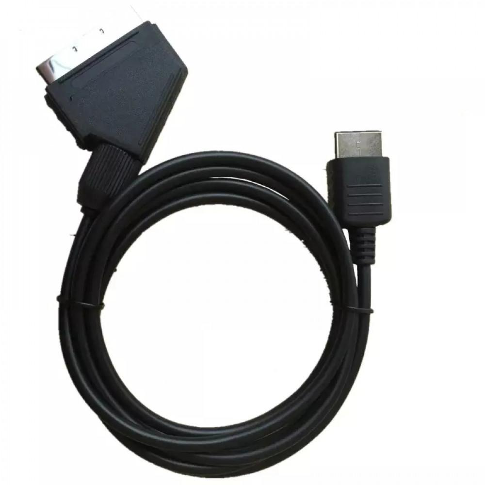 AV MULTI OUT (izskatās līdzīgi HDMI) male / paps to SCART male /paps adapters pārējas kabelis