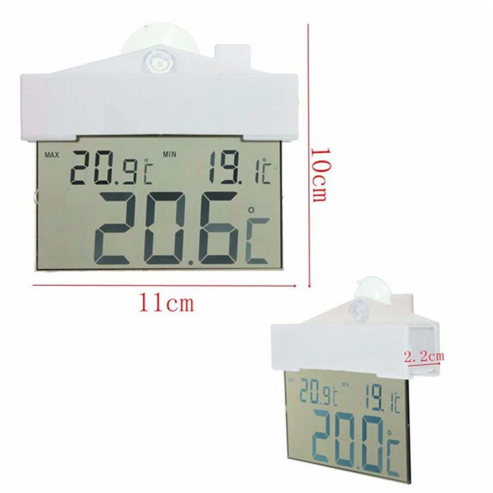 Digital Transparent Display Strong Suction Thermometer