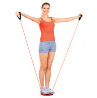 Healthy disc with a skipping rope
