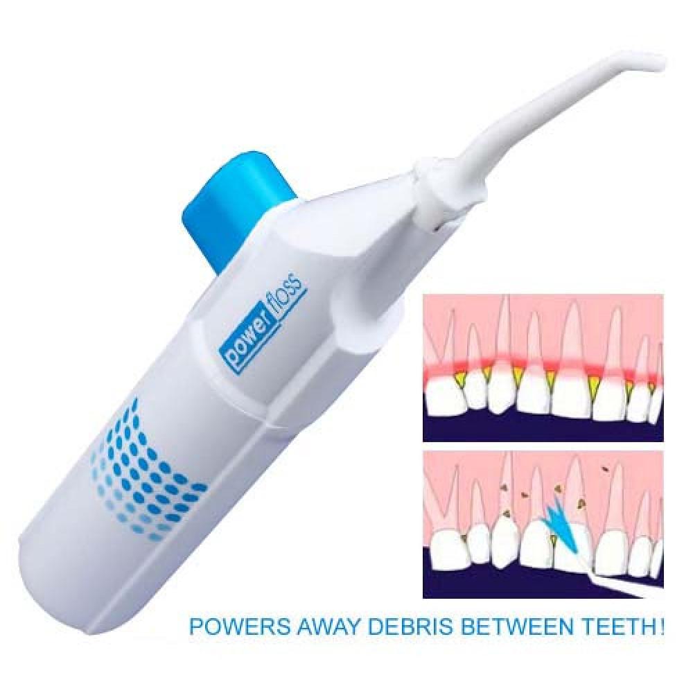 Mutes dobuma irrigators zobiem Power Floss floseris - perfekts zobu diegs