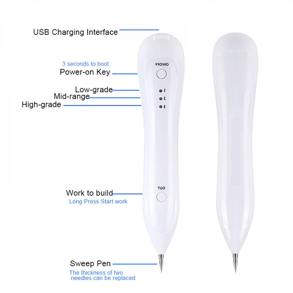 Lāzerpunktūras ierīce ķermeņa ādas kopšanai - molu, kārpu, vasaras raibumu likvidēšanai pēc elektrokoagulācijas metodes