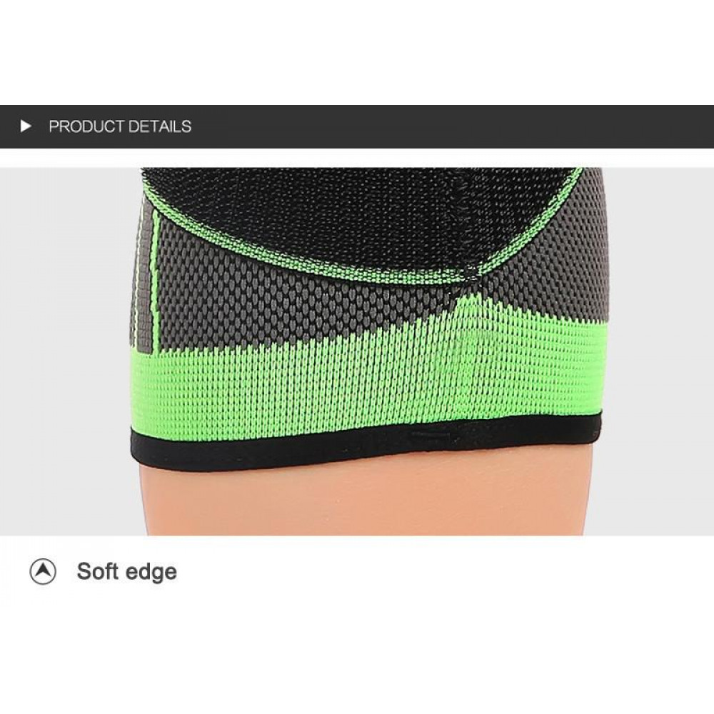 3D sportingknee bandage support, securely fixes the knee cap