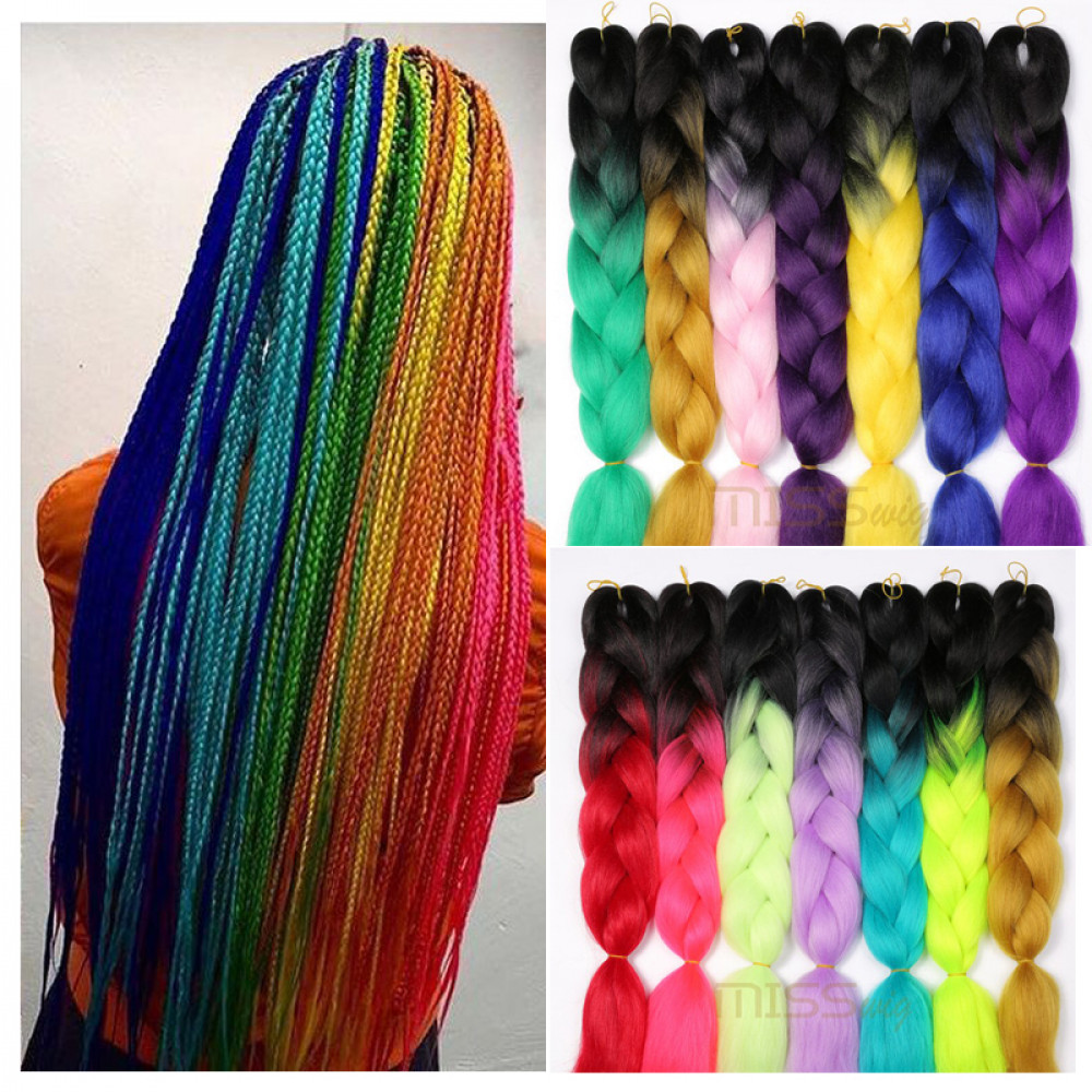 MISS WIG Braids Synthetic Braiding Hair 24Inch