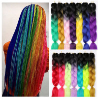 Kanekalon Braids Synthetic Braiding Hair Kanekalon 24 Inch