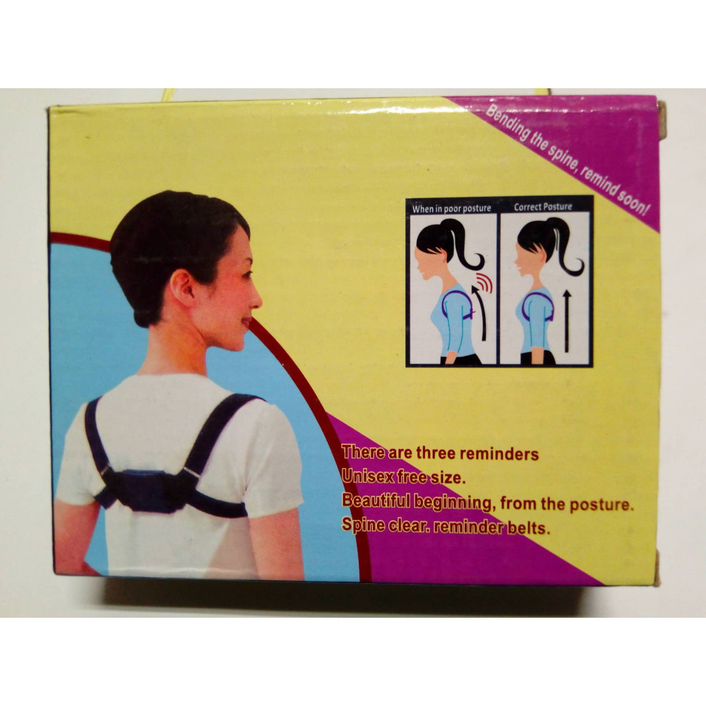 Posture corrector with vibrating and music alarms