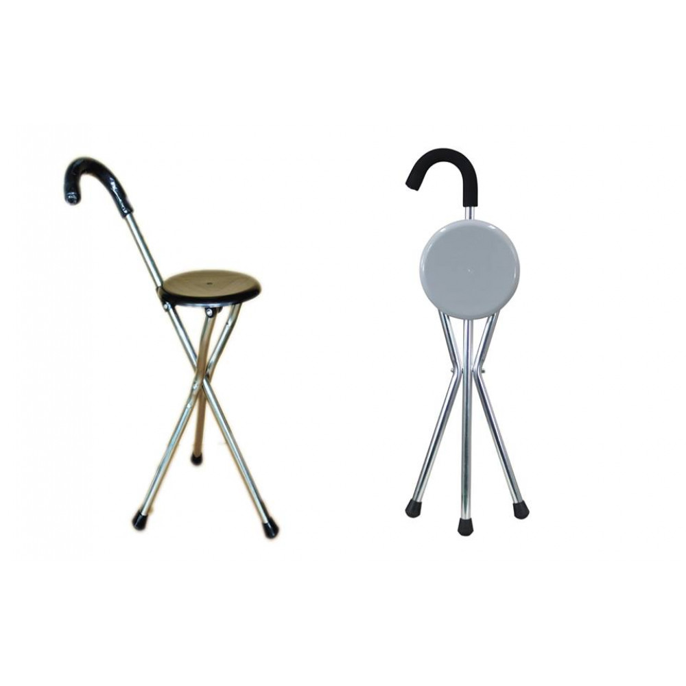 A cane chair, an auxiliary tool for seniors