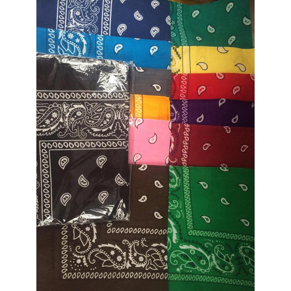 Different colors bandana