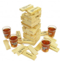 Jenga Game - Tipsy Tower Shot Glasses