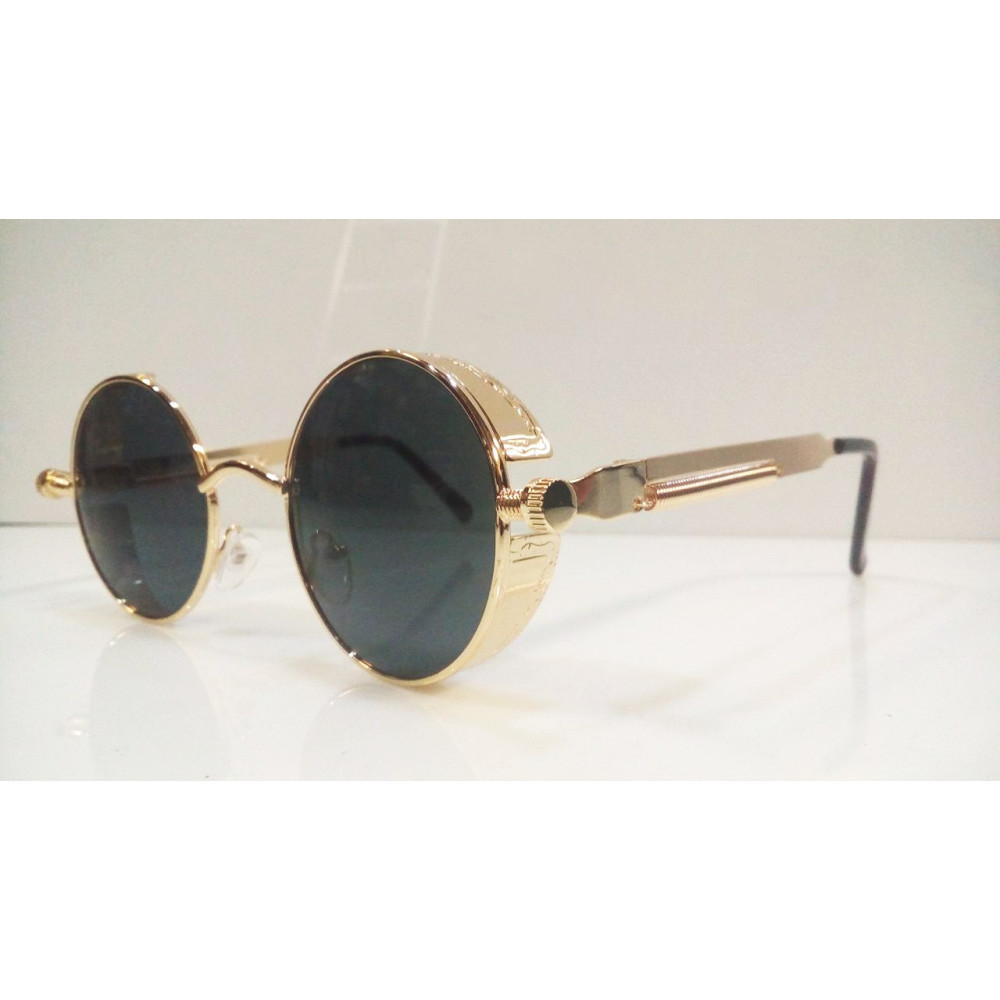 Cyberpunk or Steampunk style round spectacles