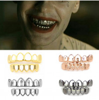 Hip Hop Hollow Open Face Teeth Grillz Caps