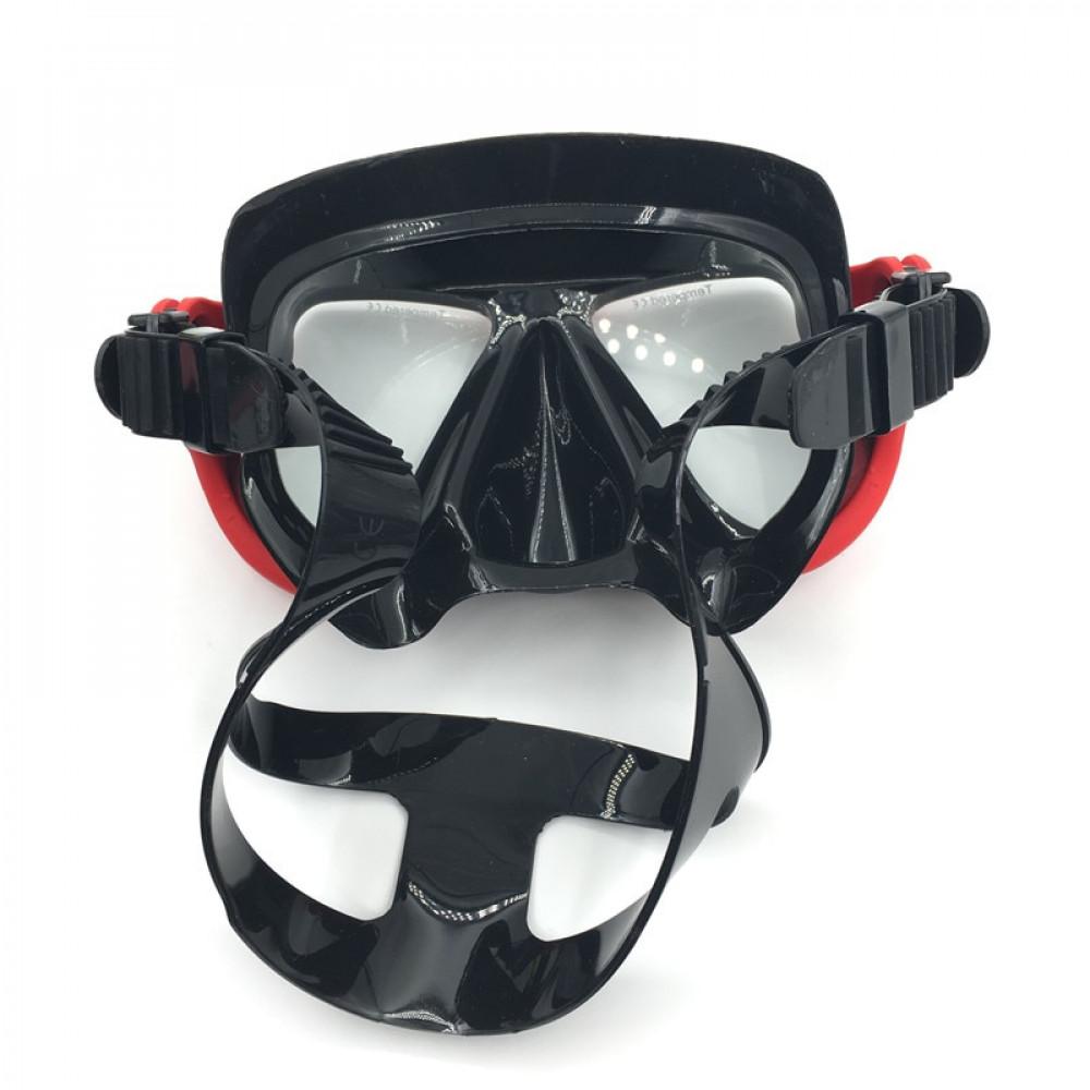 Pretaizsvīšanas niršanas maska ar GoPro kameras montāžas savienojumu