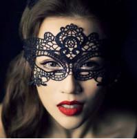 женская кружевная карнавальная маска для глаз
