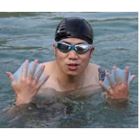 Rokas lāsti - silikona cimdi ar peldplēvi peldēšanas mācībām