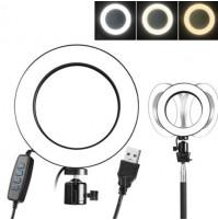 Apļveida apgaismojums portretu fotografēšanai - Selfie ar regulējamu gredzena gaismas piepildījumu Live Makeup Lamp