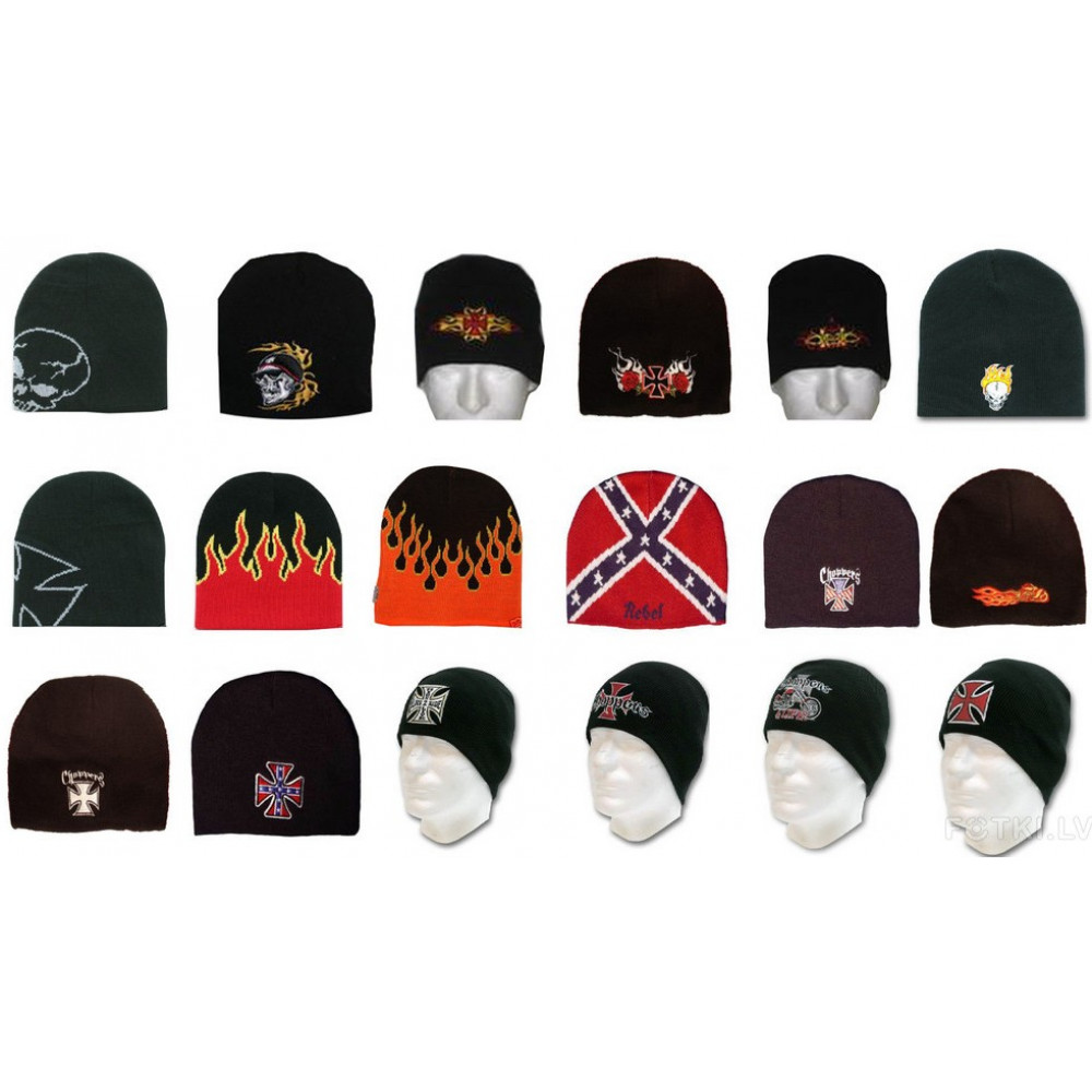 Bikers beanie, 18 embroidery options