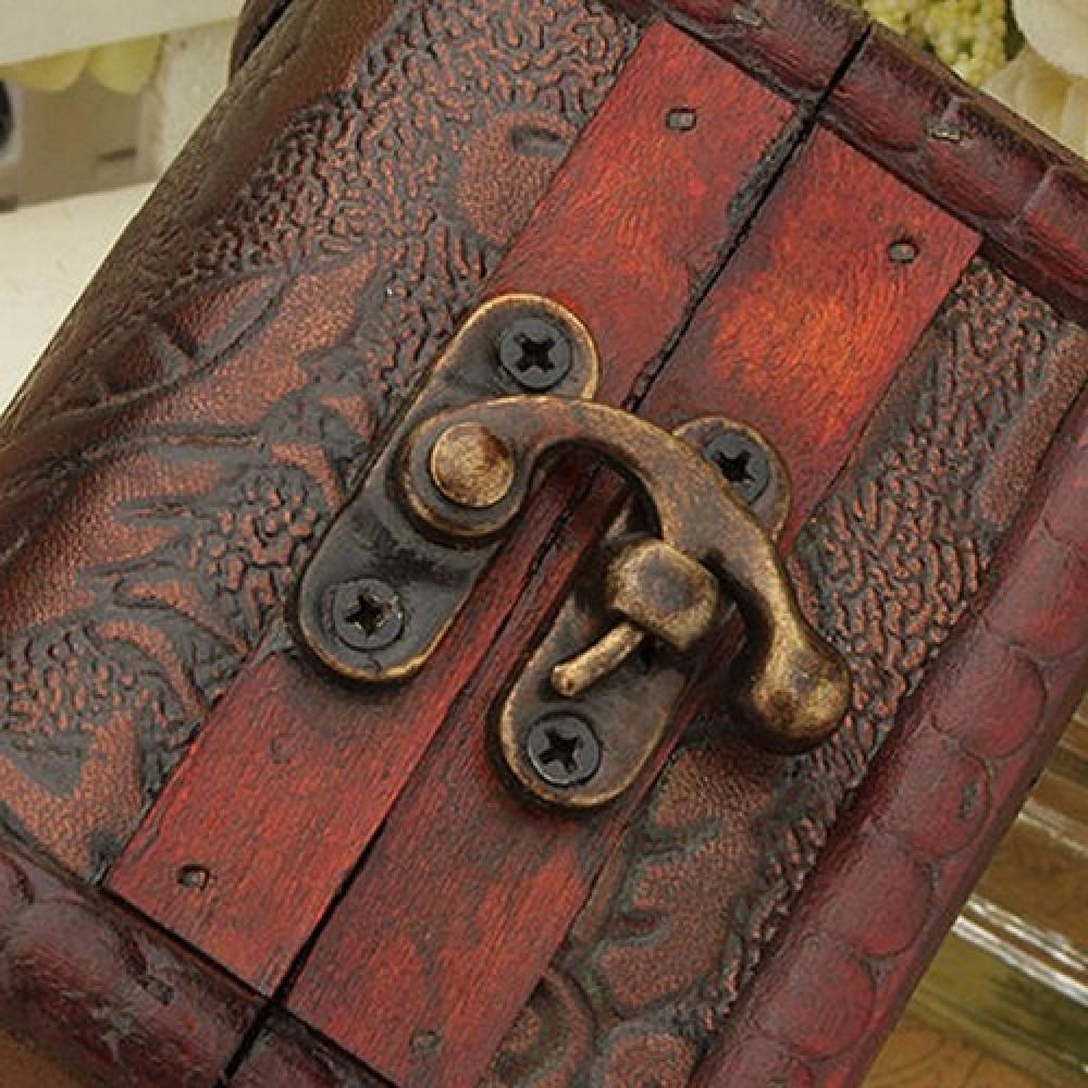 Vintage Jewelry Pearl Necklace Bracelet Storage Box Trunk