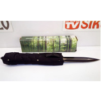 Automatic knife with front blade ejection