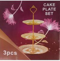 Cake plate set 3 pcs