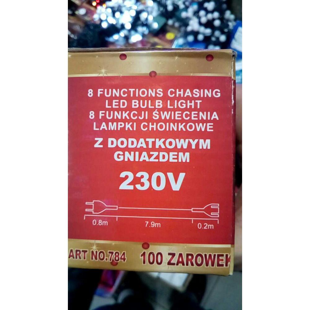 50 LED pagarināma daudzkrāsu virtene