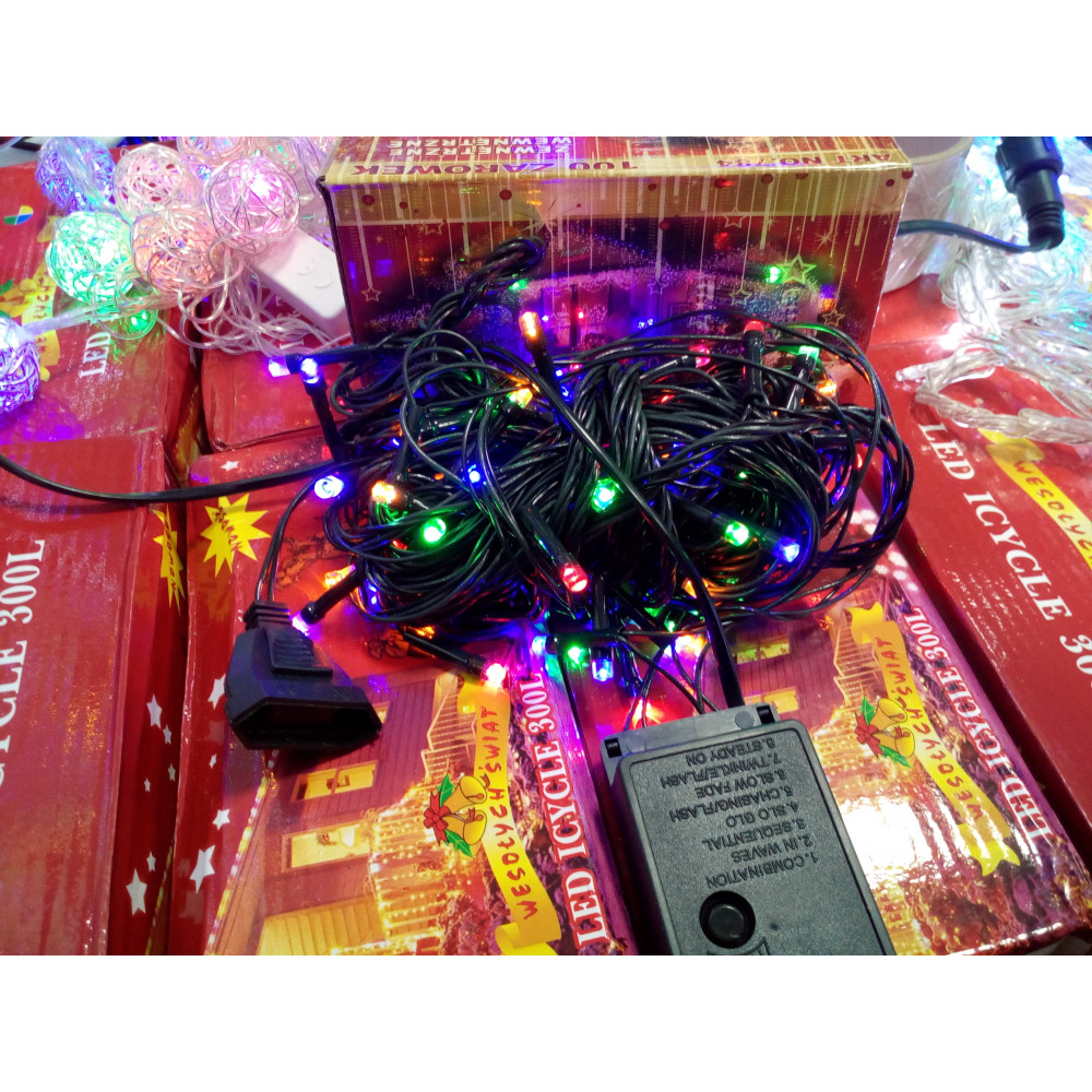 100 LED garland (multi-color, extendable)