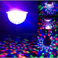 Rotējoša krāsaina LED disko spuldze e27