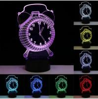 3D LED alarm clock