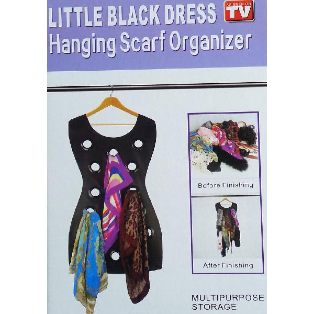 Black Dress Scarf Organizer