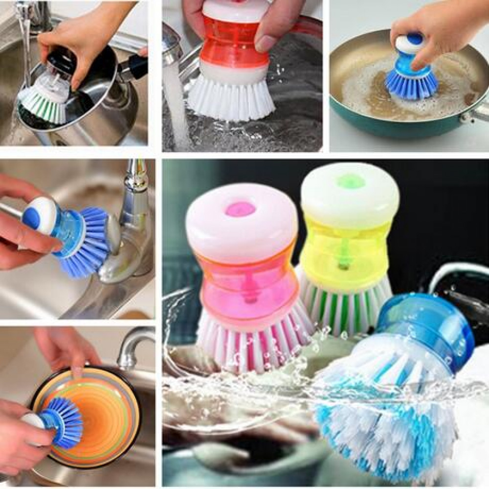 Cleaning brush with cleaner dispenser