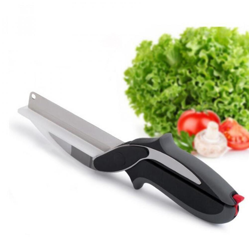 2 in 1 utility cutter knife & board stainless steel cutter