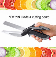 2 in 1 utility cutter knife & board stainless steel cutter