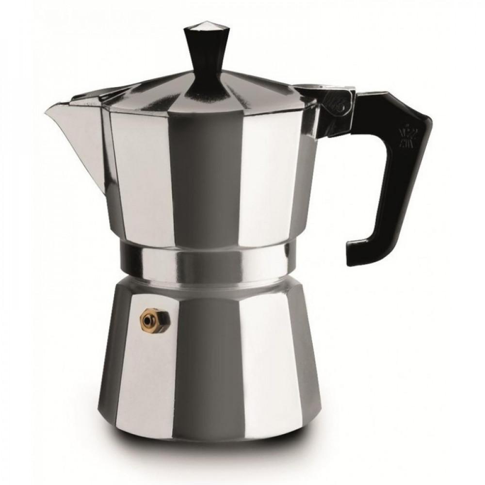 Klasiskā itāļu geizera kafijas mašīna espresso pagatavošanai x 3 tasītēm