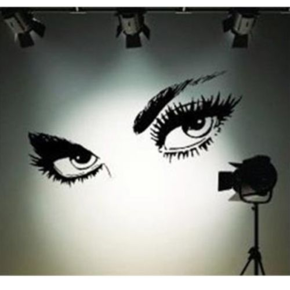 Audrie Hepburn eyes - Removable Vinyl Wall Stickers Decoration Decal Mural Room Family Art