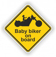 Biker Baby on board Sticker