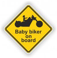Biker Baby on board Sticker