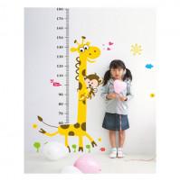 Bērnu istabas sienas dekors - uzlīme Auguma mērītājs
