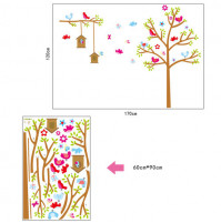 Children room wall sticker decall Nesting Box