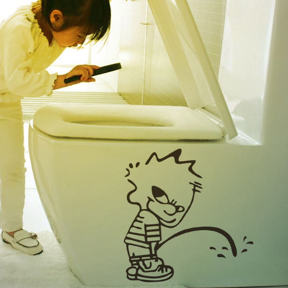 Children room wall sticker decall Pissboy