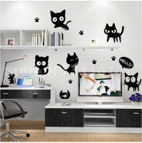 Black Cats Wall Sticker Decals Home Decor Vinyl Art