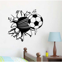 Children room wall sticker decall decor - football ball