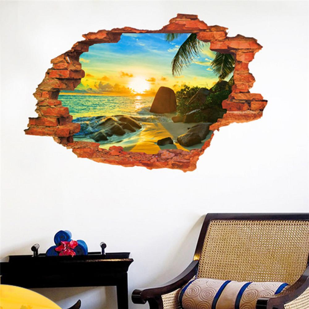 Children room wall sticker decall decor - summer hole